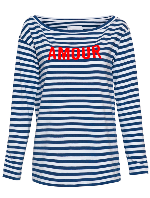 Longsleeve with application Amour