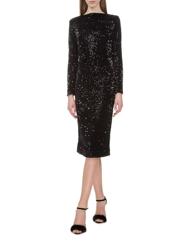 Black dress with sequins