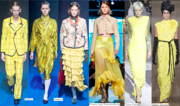 Most fashionable colours of Spring-Summer 2018 season