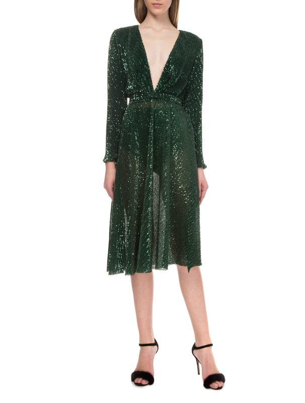 Green dress with sequins