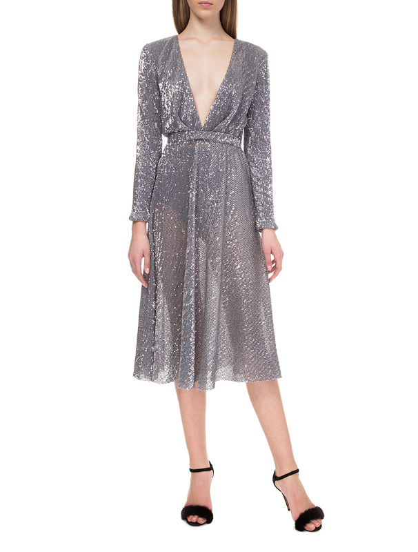 Silver dress with sequins