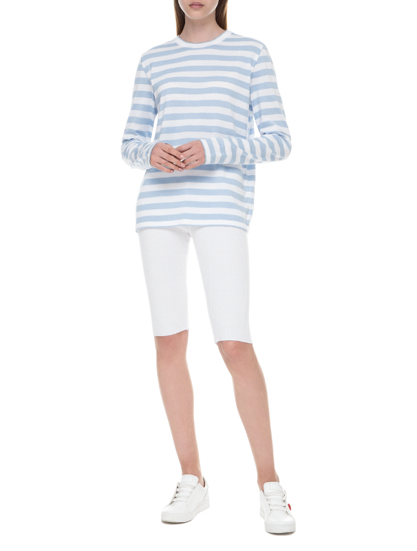 Light blue striped sweater