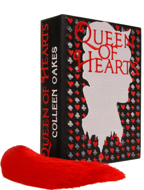"Клатч ""Queen of Hearts"" кожа мини"
