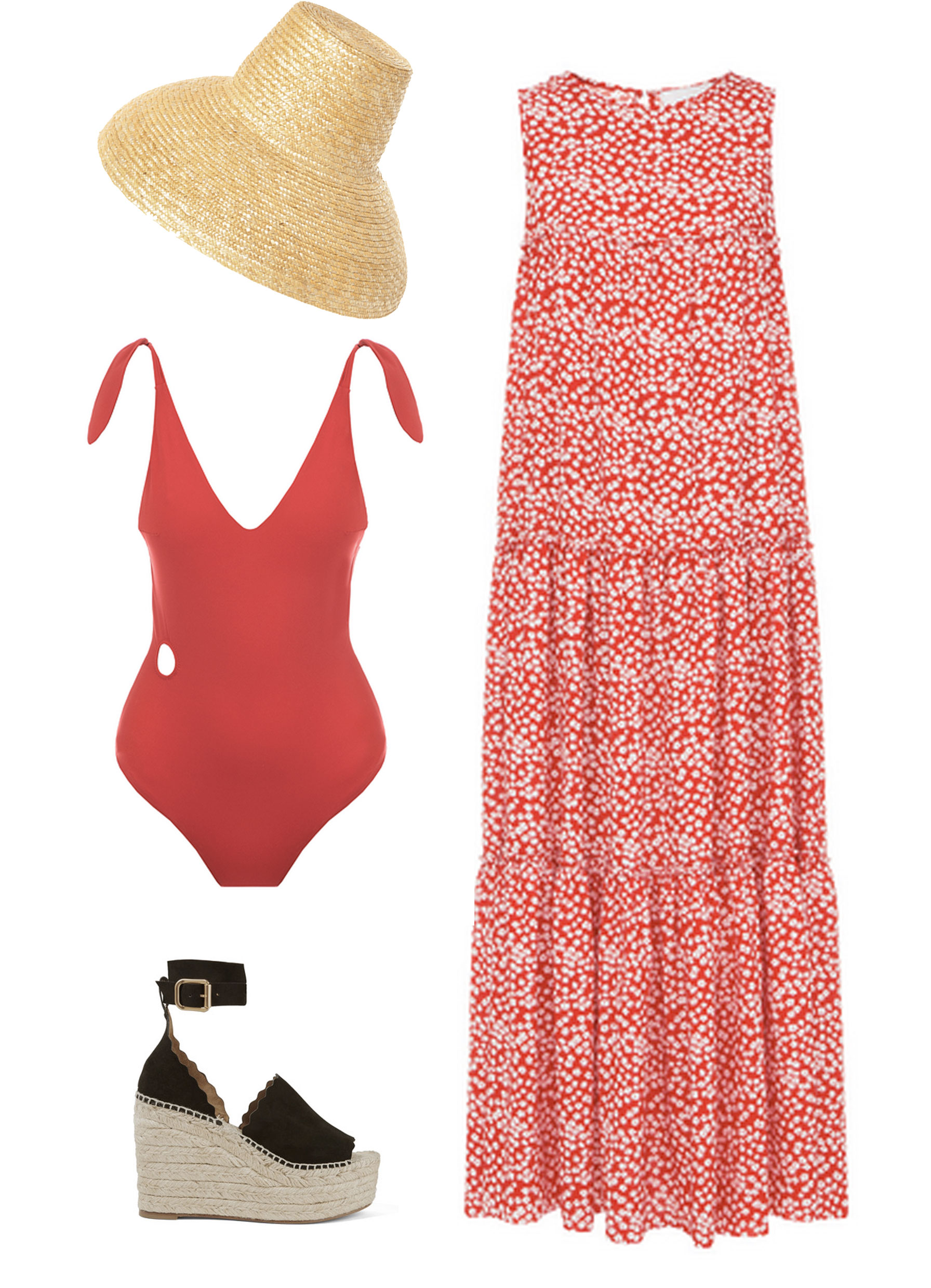 Three comfortable outfits  for summer rest near the sea and in the city