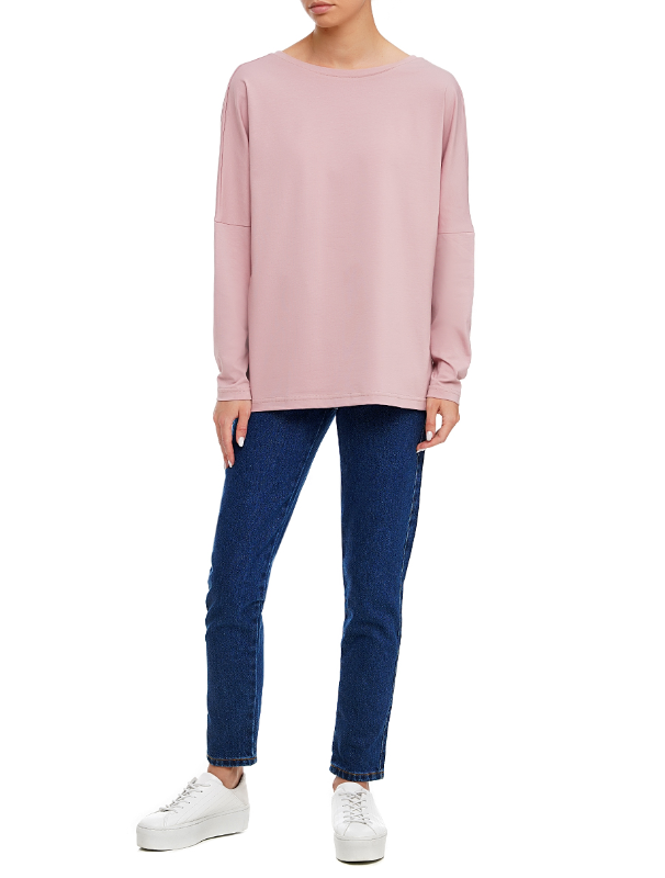 Pale pink long-sleeved t-shirt