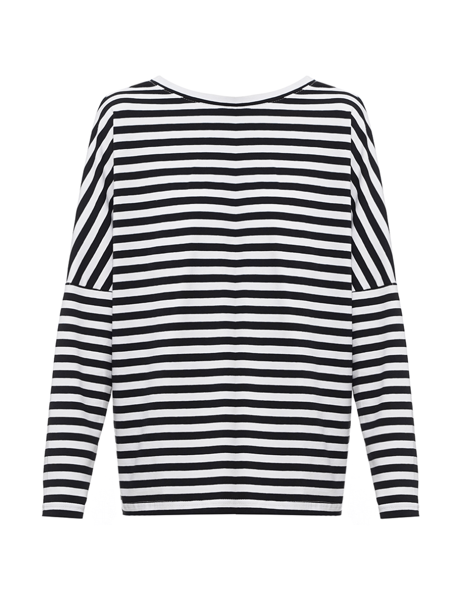Breton shirt with black stripes