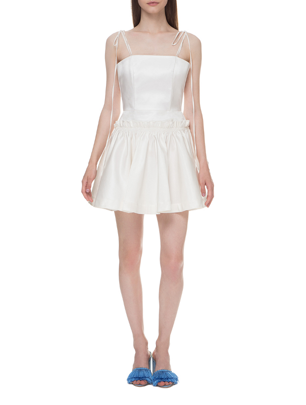 White mini dress with corset bodice